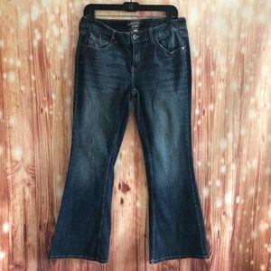 Arizona Low Rise Boot Cut Short Length Jeans